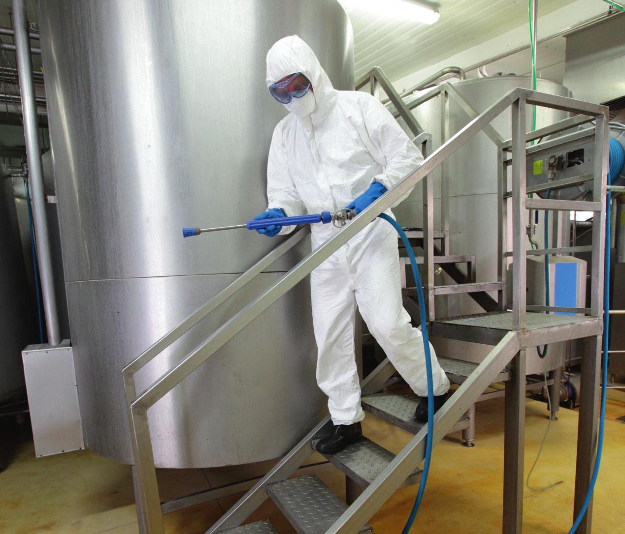 Limpieza vapor industria alimentación